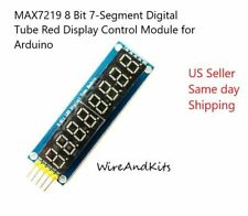 Max7219 8 Bit 7 Segment Digital Tube Red Display Control Module For Arduino