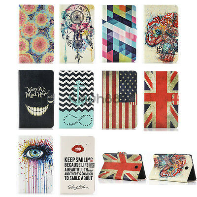 Pattern Money Wallet Flip Case Cover For Samsung Galaxy Tab 4 3 S T700 T800 T330
