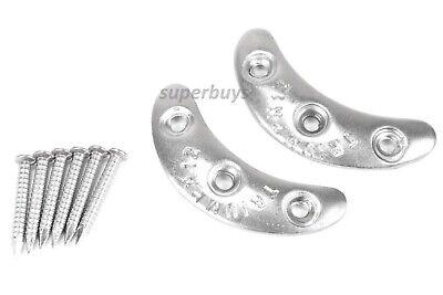 2pcs Medium 47mm Steel Heel Toe Plates 8 Nails Sole Cap Repair Replacement Kit