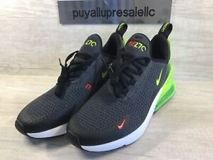 Nike-Air-Max-270-RF-Grade-School-GS-Anthracite-Volt-Black-AV5141-001-Size-7Y
