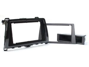 für Mazda 6 GH Auto Radio Blende Montage Einbau Rahmen 2-DIN silber schwarz
