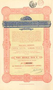 Compagnie-Internationale-des-Petroles-SA-accion-Serie-A-1925