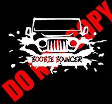 "Boobie Bouncer Sticker Decal Vinyl Funny Mud 4WD 4X4 UTV ATV 4 wheeler Jeep 6"""