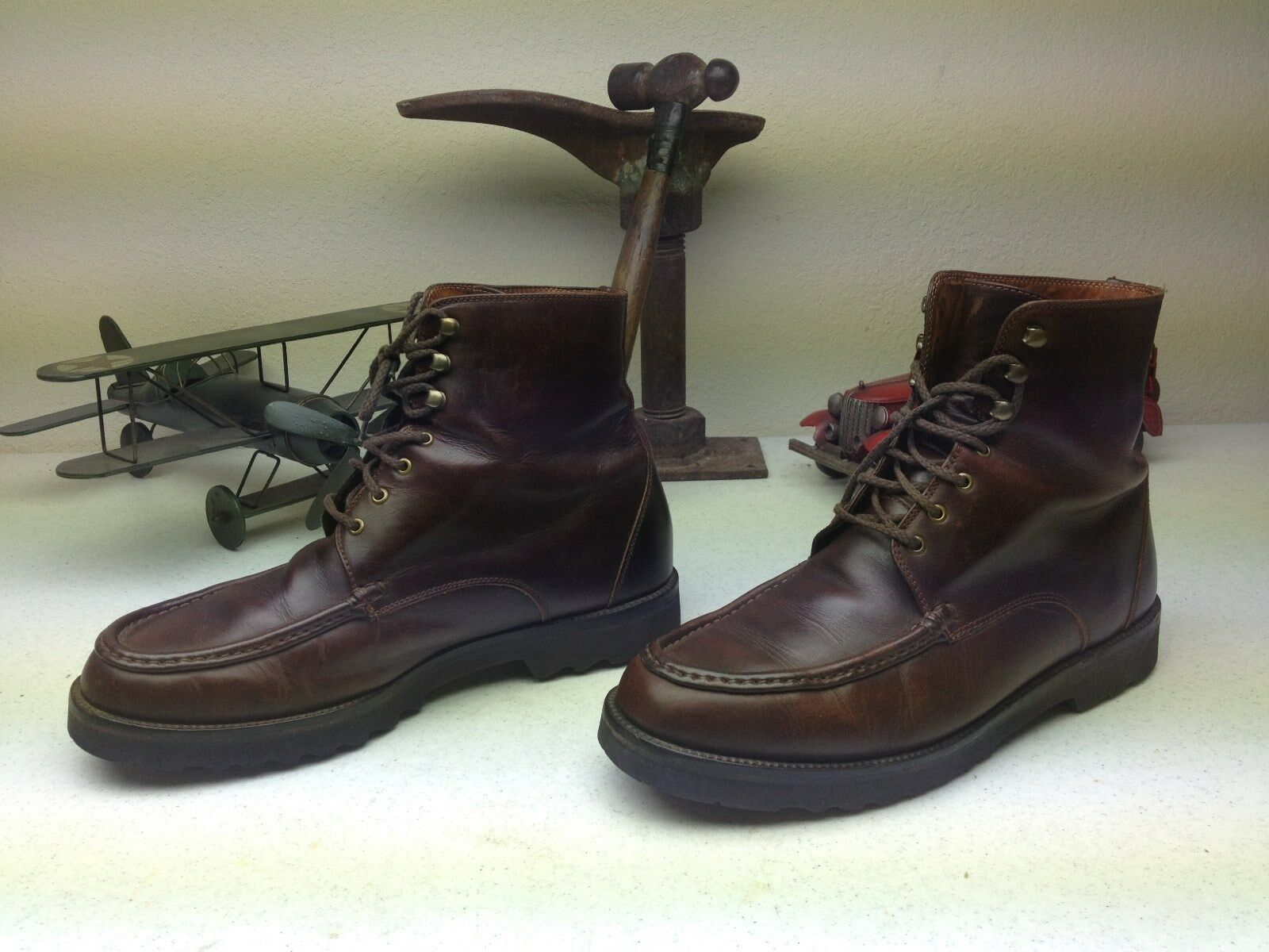 COLE HAAN BROWN LEATHER LACE UP BOOTS SIZE 11 D