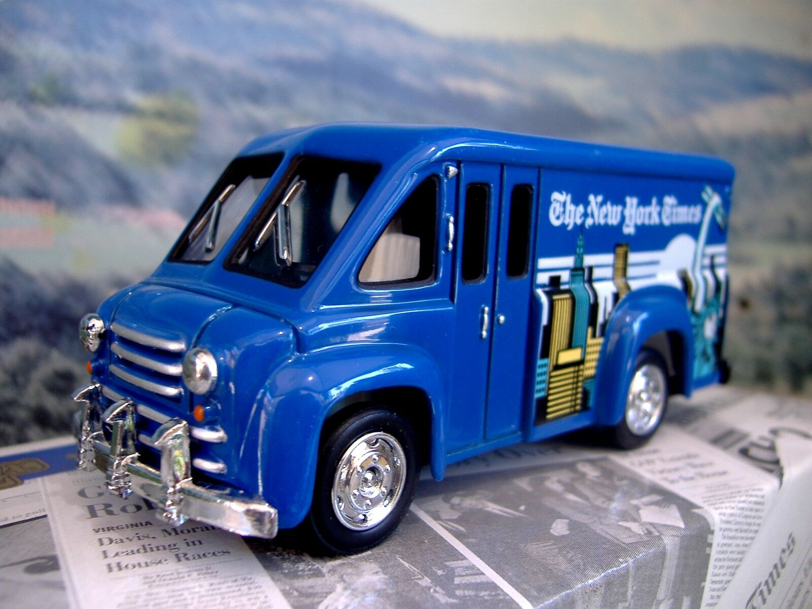 Matchbox  Power of Press   Dodge route van  NY Times