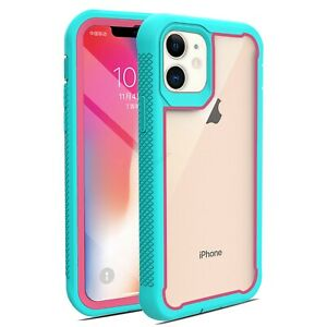 For-iPhone-12-Pro-Max-Protective-Armor-Case-Hybrid-Cyrstal-Clear-Frame-Cover