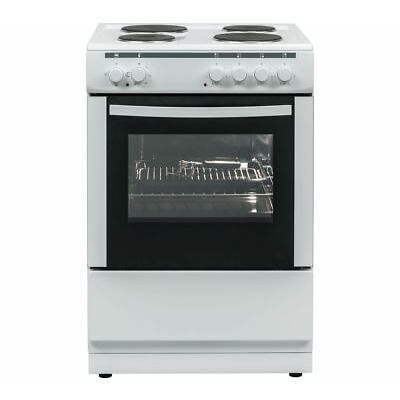 ESSENTIALS CFSE60W17 60 cm Electric Cooker - White - Currys