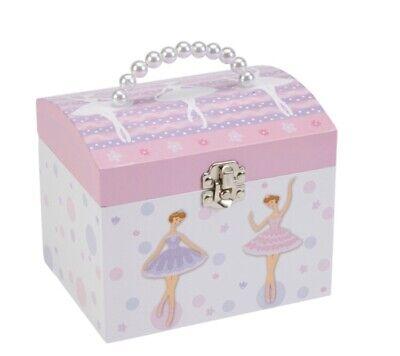 JewelKeeper Ballerina Musical Jewelry Box With Pearl Handle Swan Lake Tune