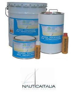 RESINA-POLIESTERE-NAUTICA-ORTO-5-kg-INDURITORE-CATALIZZATORE-4-litri
