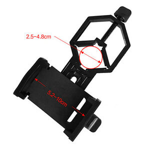 Cell-Phone-Adapter-Mount-Support-Eyepiece-Diameter-25-48mm-for-Telescope-black