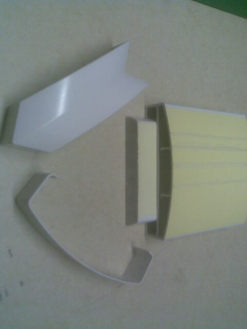 Treppe 150x45mm  L 318-596 cm 1 lfm Kunststoff Hohlkammer Handlauf Balkon