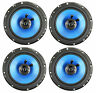 "4) Q POWER 6.5"" 300 Watt 2-Way Blue Car Audio Stereo Coaxial Speakers | QP650"