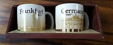 Starbucks Germany & Frankfurt set of Two Demitasse 3 oz Mugs Global 2009
