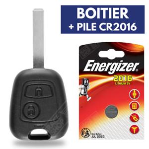 Boitier Télécommande Plip Coque pour Clé PEUGEOT 107 207 307 SW ▶ Pile CR2016 ◀