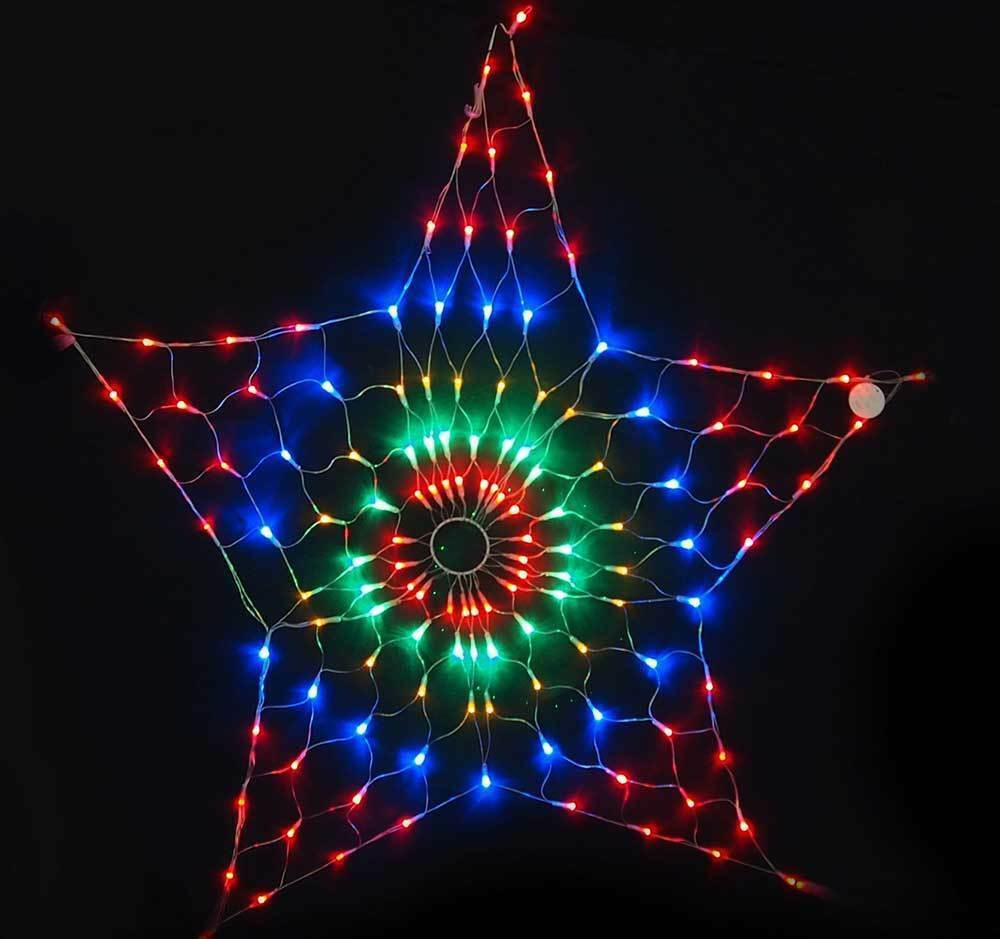 130LED 45CM Star Net Light Multi Colourouge Flashing Christmas Light Xmas XM0592
