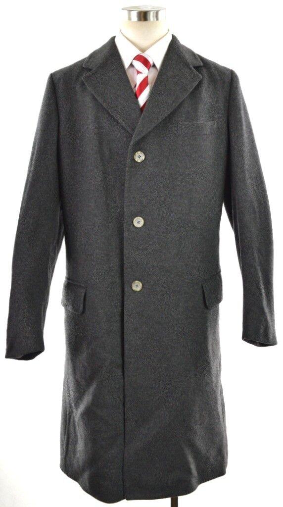 Alexandre Grau Wolle Wolle Wolle Kaschmir 3-btn Isoliert Mantel Langer Mantel  Herren 45l | Hohe Qualität und günstig  ee63d9