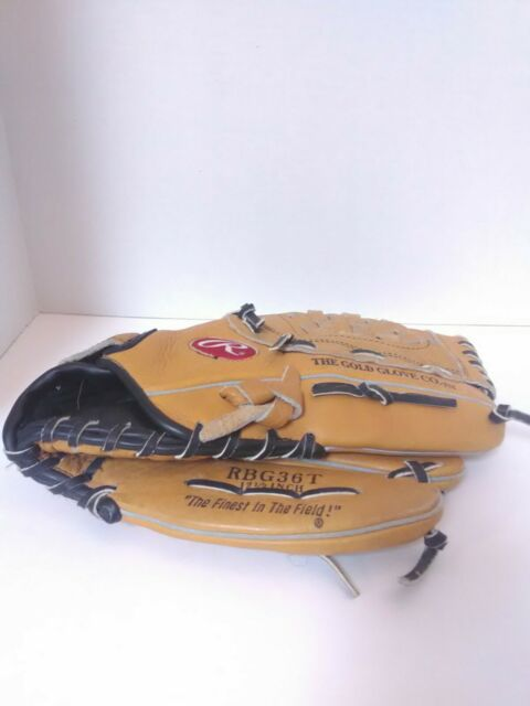 "Rawlings Glove Mitt RBG36T 12-1/2"" Fastback Baseball Full Grain Leather RHT"