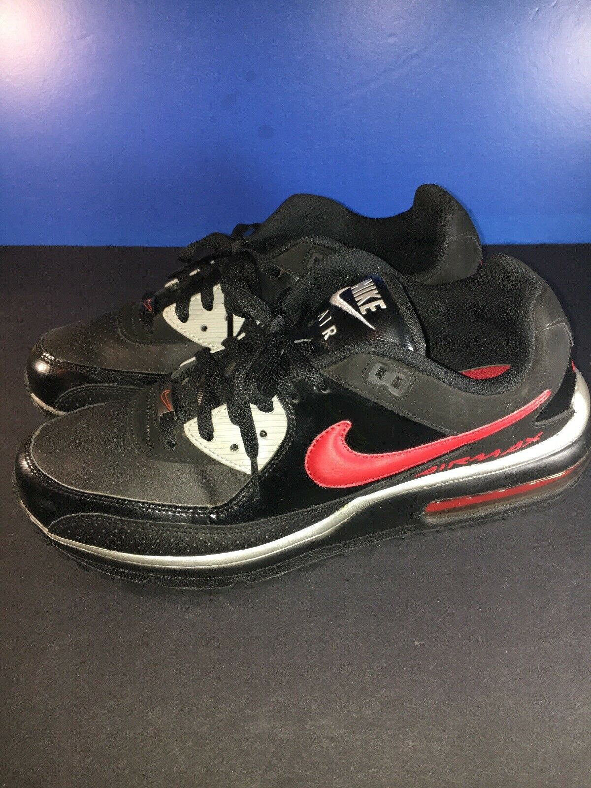 Nike Nike Nike Air Max Wright Size 10.5 Low Black Red Silver 8e5799