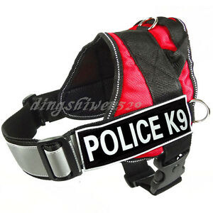 REFLECTIVE-Service-Dog-Vest-Harness-Choose-2-label-patches-IN-TRAINING-POLICE