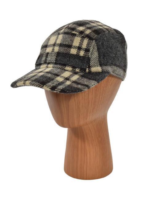 Ralph Lauren RRL Vintage Gray Plaid Wool 5 Panel Hunting Hat Cap S ... 82a28d6b7dc1