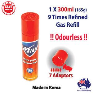 1x-300ml-Butane-Gas-Refill-GENUINE-MAX-Jet-Lighter-9X-REFINED-Bottle-Blowtorch