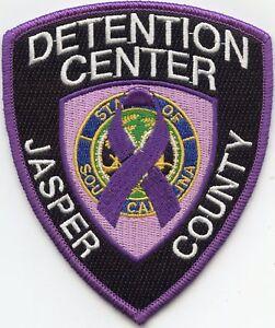 Details about JASPER COUNTY SOUTH CAROLINA SC PURPLE DOC CORRECTIONS  sheriff police PATCH