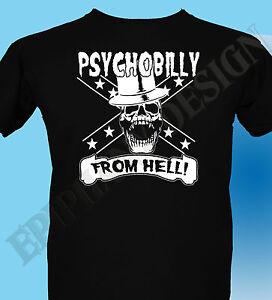 Rockabilly-Psychobilly-Punk-Mens-T-Shirt-Psychobilly-From-Hell-Ladies-Original