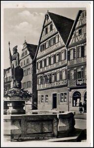 BAD MERGENTHEIM um 1940/50 Partie Marktplatz Brunnen Denkmal Engel-Apotheke