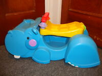 Fisher Price Incrediblock Blocks Peekaboo Gobble & Go Hippo Truck Ride on