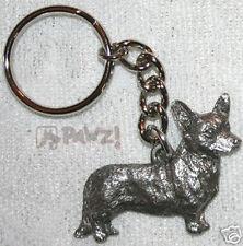 Corgi Cardigan Welsh Dog Fine Pewter Keychain Key Chain Ring