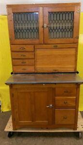 Image is loading Antique-Oak-Hoosier-Cabinet & Antique Oak Hoosier Cabinet | eBay