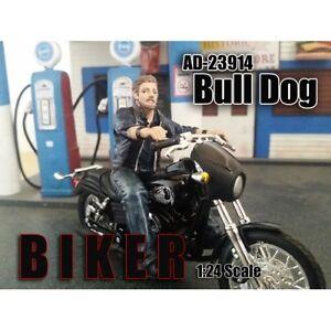 Biker Bull Dog Figure 1 24 Model By American Diorama 23914