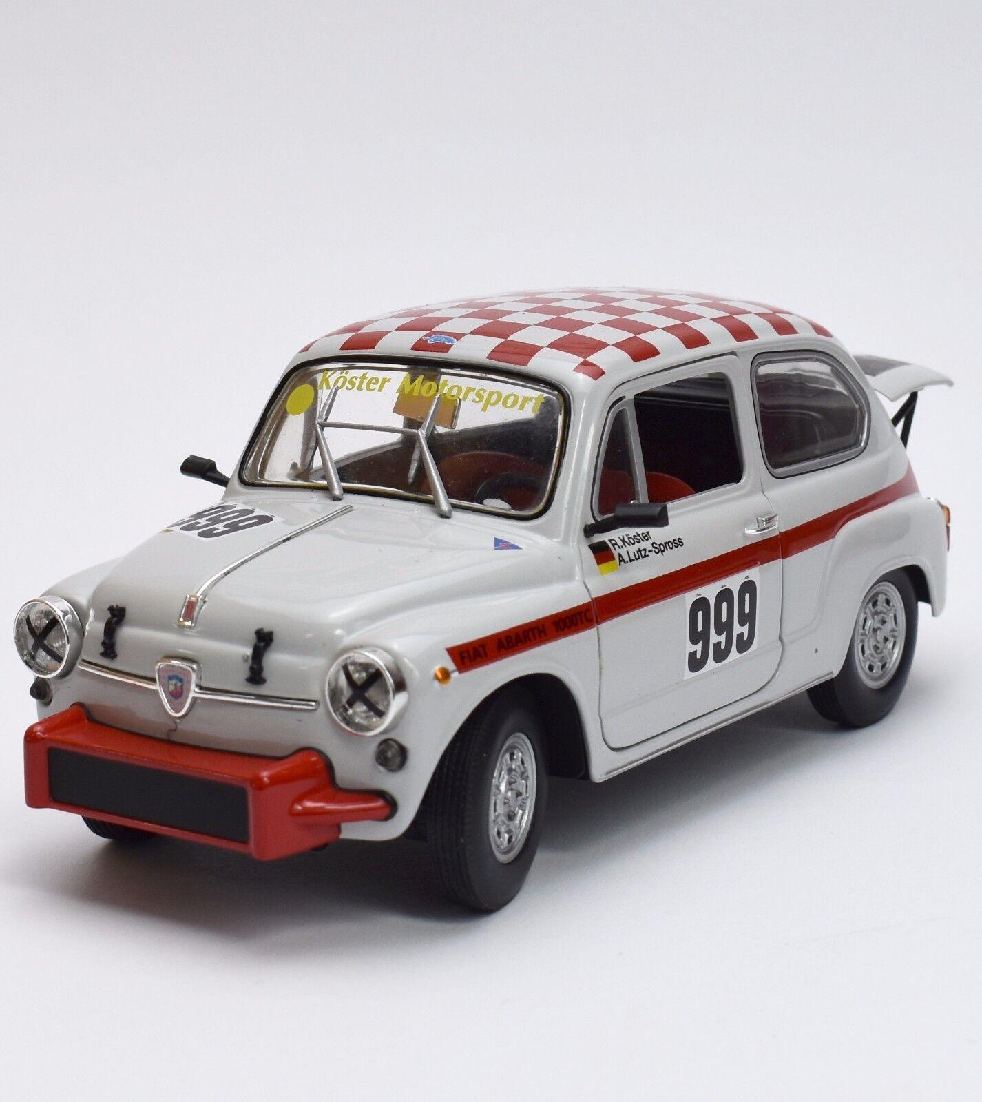 REVELL 08836 Fiat Abarth 1000 TC Rally Sport En Blanc laqué 1 18, NEUF dans sa boîte, k025