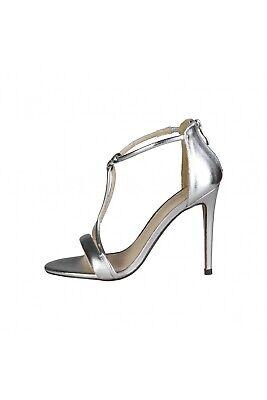 Versace 19.69 Daphnee Black Sandal Heels 50/% Off! Beige CLEARANCE SALE
