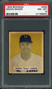 Duke-Snider-1949-Bowman-Dodgers-Rookie-Card-226-psa-8