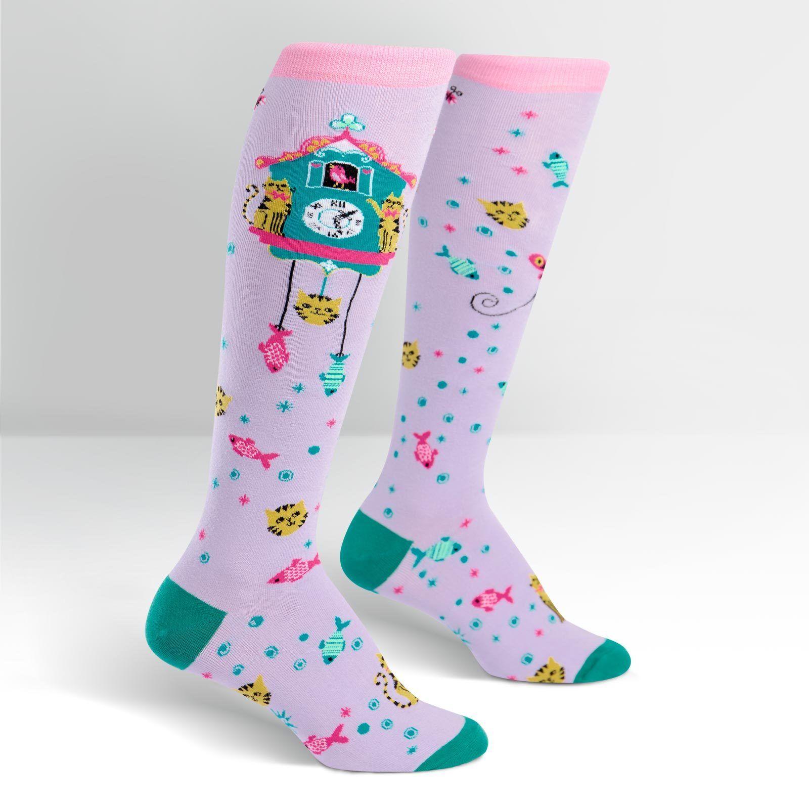 Sock It To Me Donna Sopra Il Ginocchio Calze-DARK /& STORMY