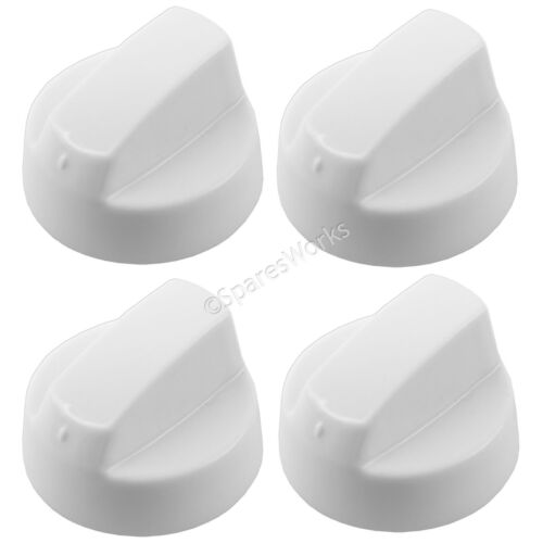 UNIVERSAL White Oven Cooker Knob Gas Hob Switch Flame Burner Control Knobs