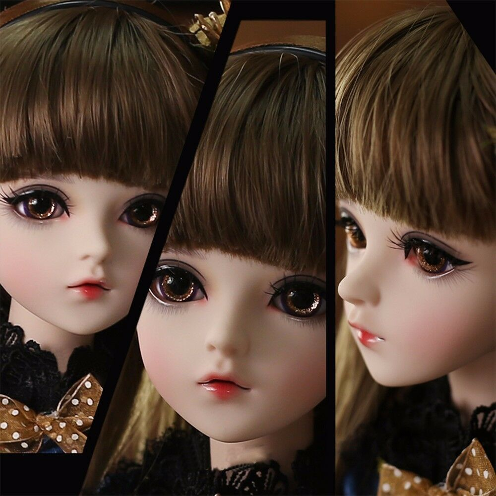 24  BJD Doll 1 3 Ball Jointed Baby Girl Free Face Makeup Eyes Wig Xmas Doll Toys