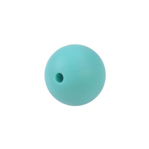 20X Silicone Beads Teething Necklace Baby DIY Safe Nursing Round Rainbow 9//15mm