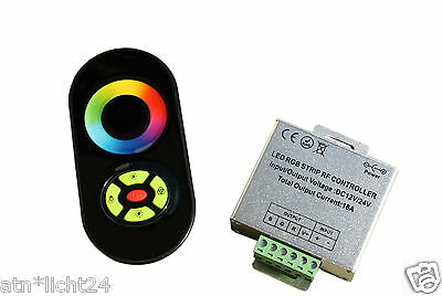 2.4Ghz Funk 4-Zonen Gruppen RGB LED Strip Controller Dimmer Verstärk 12V-24V 18A