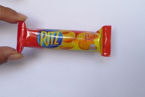"""RITZ CHEESE CRACKERS Pack FRIDGE MAGNET Novelty Indonesia 3D Large 3.5/"""""""