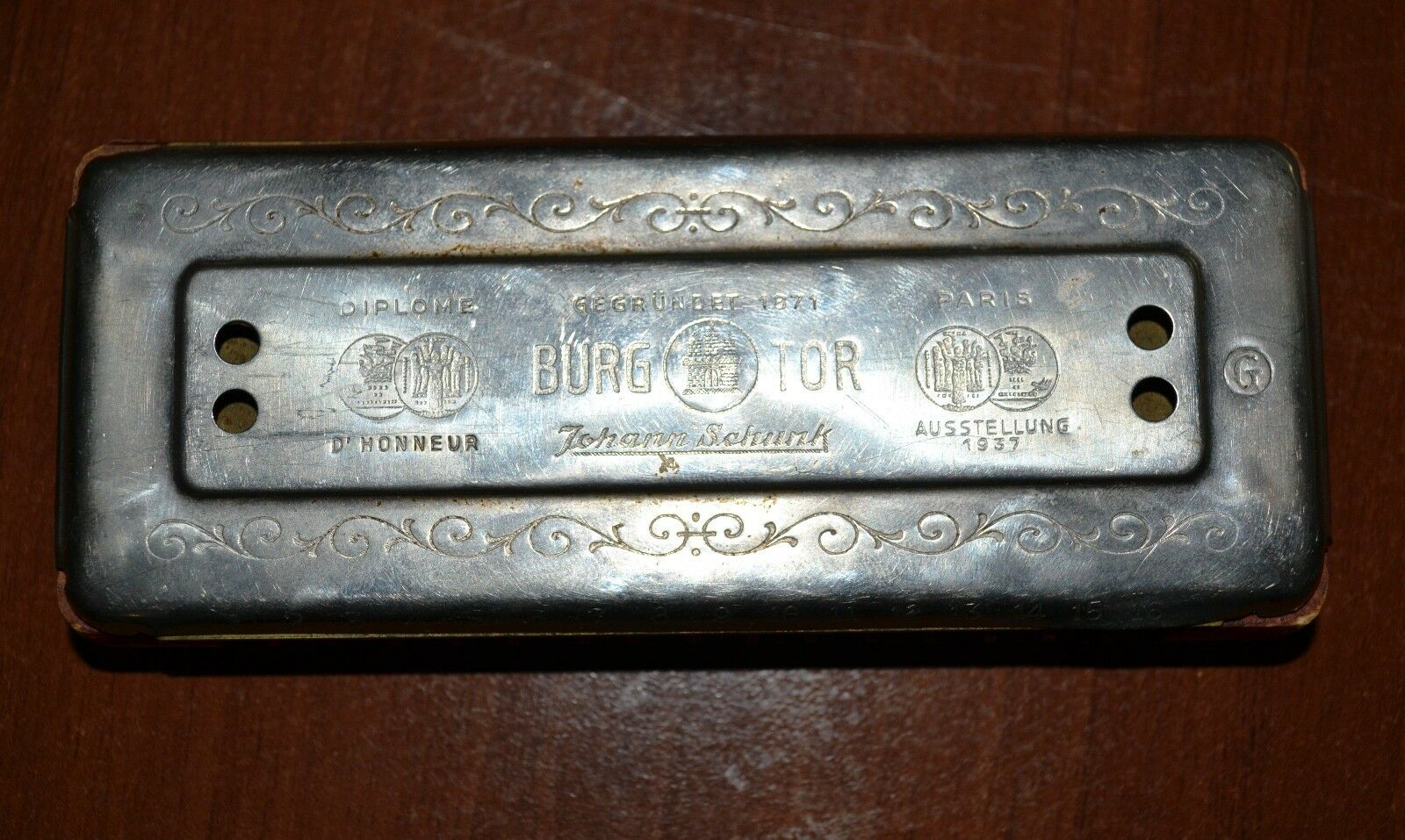 ANTIQUE PARADIESVOGEL HARMONICA, MADE IN GERMANY 1940s