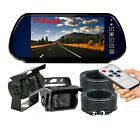 """7"""" MIRROR MONITOR+HD 600TVL 4 PIN CCD IR BACKUP CAMERA REARVIEW SYSTEM FOR TRUCK"""