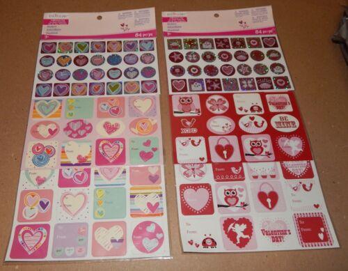"Creatology Valentine/'s Day Stickers 2pks 168ea 1/"" /& 1 1//2/"" Size 3+Michaels 32Q"