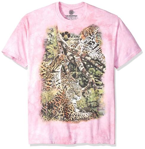 The Mountain Men/'s Women/'s Three Leopard Jungle Cats T-Shirt Pink Small-Large