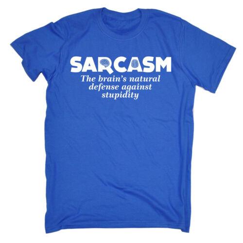 Sarcasm Brains Natural MENS T-SHIRT tee birthday funny sarcastic rude gift