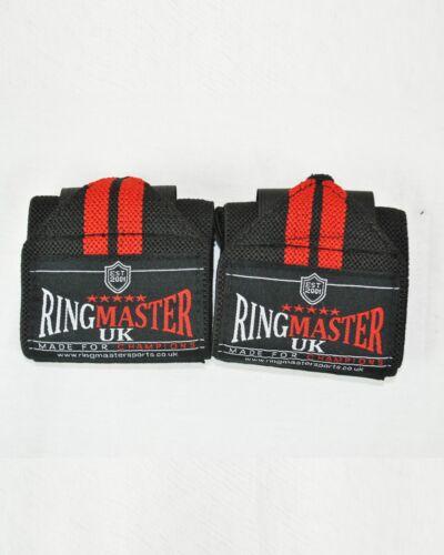RingMasterUK Weight Lifting Wrist Wrap Gym Support wrist Strap Crossfit