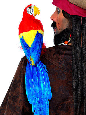 """20"""" PIRATE PARROT ON SHOULDER MACAW BIRD SKULLY PIRATE COSTUME PROP ACCESSORY"""