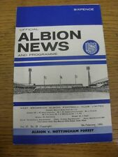 05/02/1966 West Bromwich Albion v Nottingham Forest  (folded). Thanks for viewin