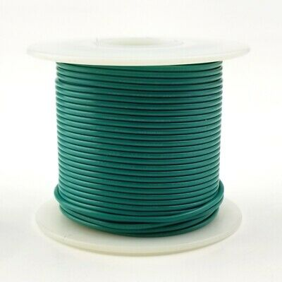 H18-05-25 ~ 18AWG GREEN PVC Insulated Stranded 300 Volt Hook-Up Wire 25/' Roll